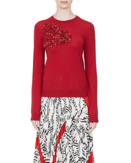 Sequin-embellished sweater