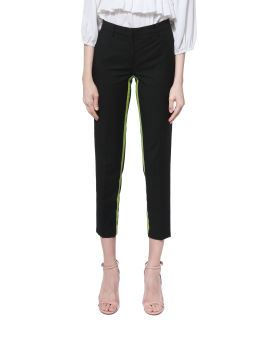 Neon tape tailored pants