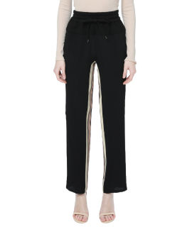 Striped silk blend trackpants