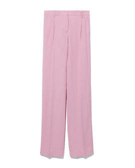 High-rise straight-fit pants