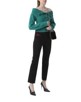 Embellished pleated pants