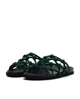 Velvet net sandals