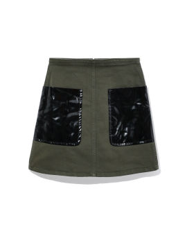 Vinyl patched skirt