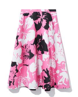 Floral print flared skirt