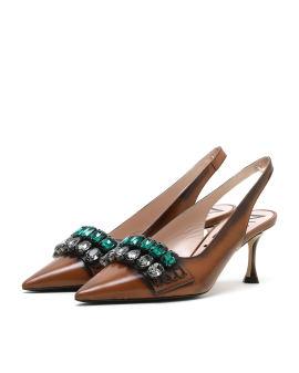 Embellished slingback heels
