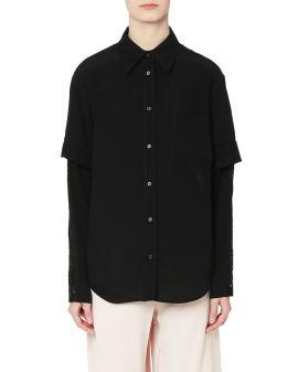 Panelled lace shirt
