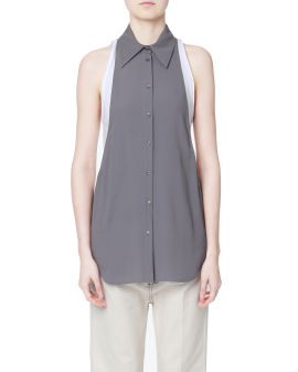 Collared button-up vest