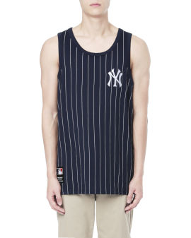 MLB New York Yankees stripes logo tank top