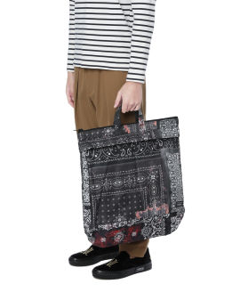 X PORTER patchwork paisley tote bag