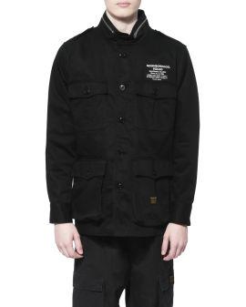 Zip collar safari jacket