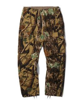 Printed drawstring cargo pants