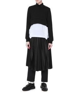Harness back crop sweater