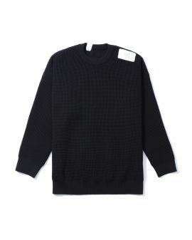 Logo patch knit sweater