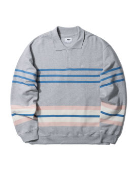 Isso striped polo sweater