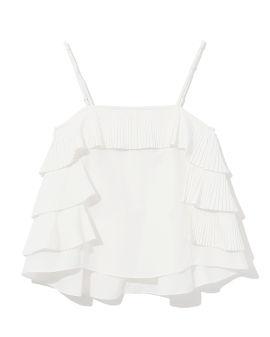 Ruffle trim camisole top