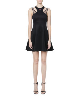 Jersey double strap dress