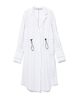 Popeline coulisse shirt dress