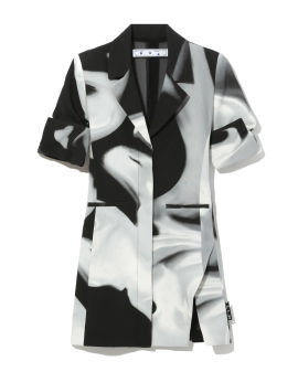 Liquid melt blazer dress