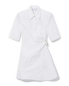 Twisted knot shirt dress