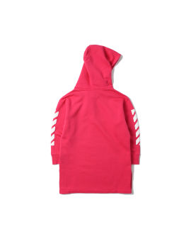 Rounded logo hoodie dress