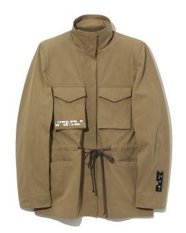 Rear-painting gabardine jacket