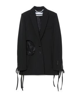 Cut-out blazer