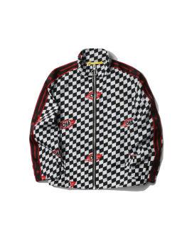 Chessboard leaves track jacket