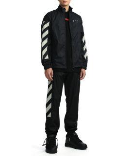 Diagonal nylon tracktop jacket