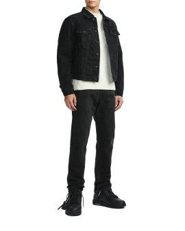 Negative mark slim denim jacket