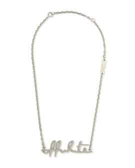 Cursive logo pendant necklace