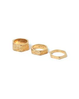 Texturized hexnut rings