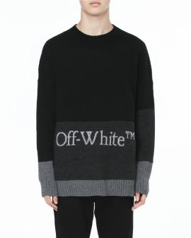 Blocked knit sweater