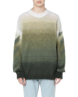 Diagonal brushed sweater