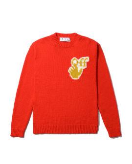 Hand OFF chunky sweater