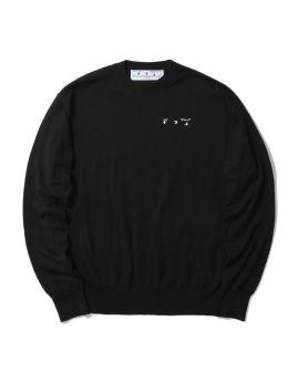 Logo basic knit sweater