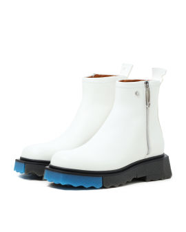 Sponge sole leather zip boot