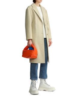 Trench wool coat