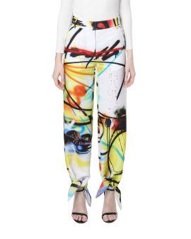 Futura spray bow pants