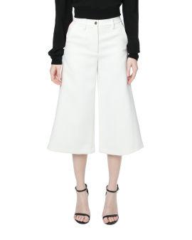 Bonded culotte pants