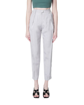 Cropped logo tailored pants
