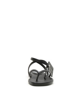 Zip tie flat sandals