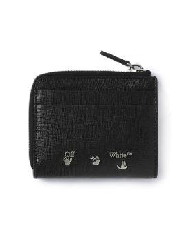 3D Diagonal zip wallet