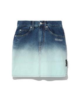 Degrade denim mini skirt