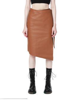 Asymmetrical slit skirt