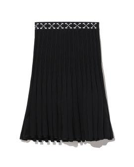 Pleated arrows skirt