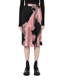 Liquid melt plisse skirt