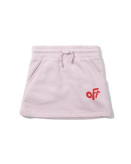 Off rounded mini skirt