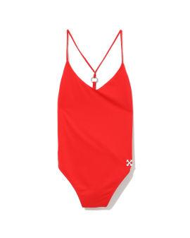 Arrows embossed swimsuit