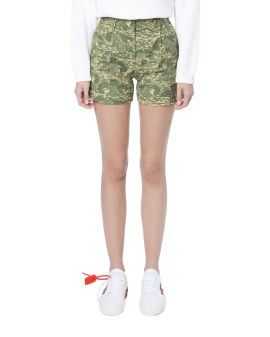 Camouflage ripstop shorts