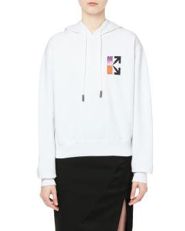 Gradient crop hoodie